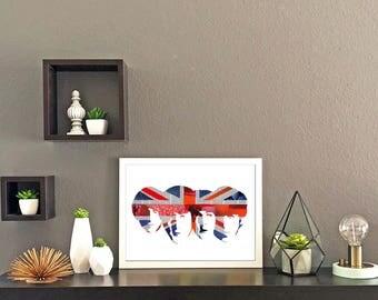Beatles Union Jack Collage Print