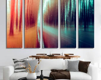 Autumn Wall Art Autumn Canvas Print Autumn Large Wall Decor Autumn Canvas Autumn Poster Print Autumn Home Decor Gift for She