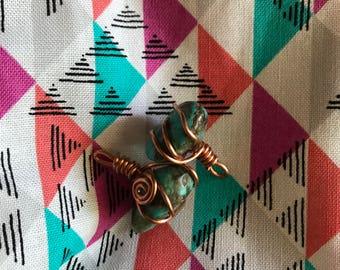 Sacred Spiral Turquoise ear jackets/pendants