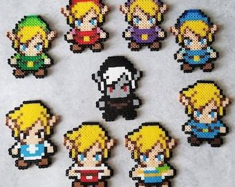 Mini Link Perlers Set/Singles, Magnets, Legend of Zelda, Pins