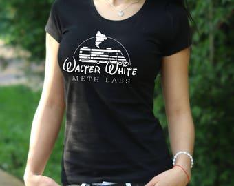 Walter White Meth Labs Breaking Bad Tshirt Los Pollos Hermanos Shirt reaking Bad T-Shirt Walter White Womens shirt Heisenberg t shirt