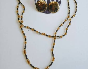 Brown And Gold Jewelry Set