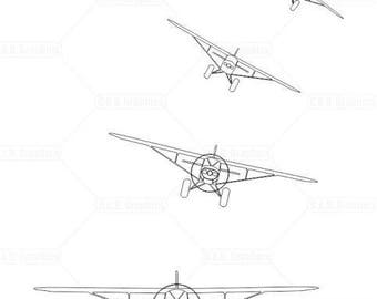 Piper PA-12 bush plane, white vinyl graphics