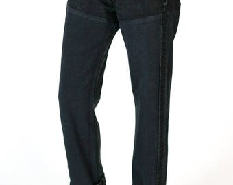 Redesigned Reversed Vintage Levi's 501 Black Denim Jeans