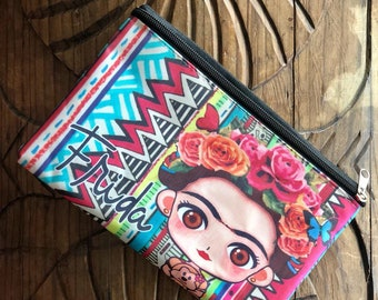 Frida Kahlo Cosmetic Bag / Pencil Bag / Colorful Cosmetic Bag / Cosmetic Pouch