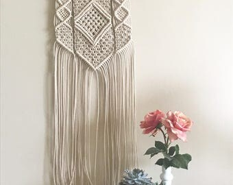 Medium Macrame & Driftwood Wall Hanging | Modern Macrame | Boho Home Decor | Macrame Tapestry | Amelia