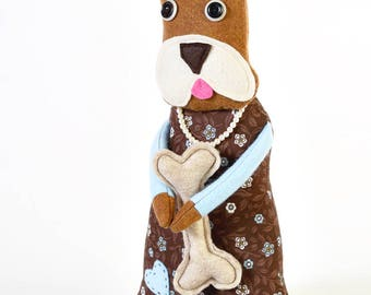boxer stuffed animal - dog doll - stuffed boxer - eco friendly gifts