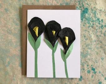 Black Calla Lily Card 2017