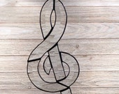 Beveled Stained Glass Treble Clef, Sun-catcher, Music Note, Hand Crafted and Made in America
