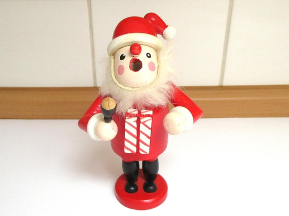Santa Claus Smoker Man Smoking Pipe Incense Burner Germany