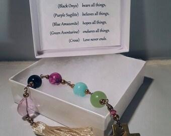Bible Verse Prayer Beads Chaplet Love Friendship Encouragement
