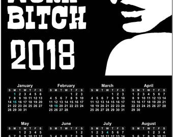 Britney Spears Get to Work B+tch Popart 2018 Full Year View Calendar - Magnet, Print, Poster #3832