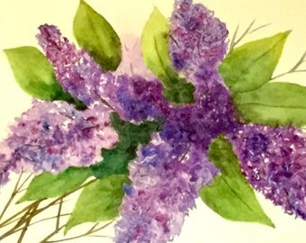 Spring Lilacs original watercolor