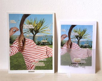 Summer, original collage and limited edition chapbook / diagram poetry zine