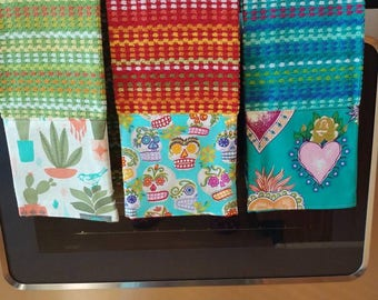 Mexican Folk Art kitchen towels Set of 3