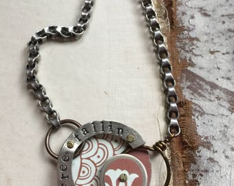 Harbinger Collection Riveted TIn Pendant Necklace Free Fallin