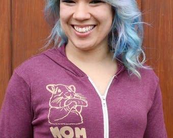 Women Sweatshirt, Women Zip Up Hoodie, Zip Up Sweatshirt, Tumblr Sweatshirt, Hamster Sweatshirt, Hamster Shirt