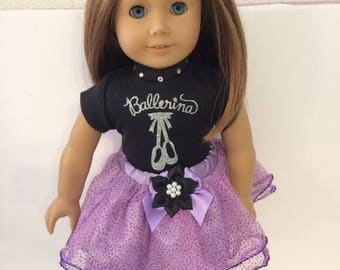 "Ballerina#9 doll clothes for the 18"" doll like the American girl"