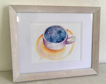Cup Full of Stars 8 x 10 Original Art Print