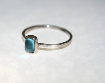 Stackable Ring With Topaz