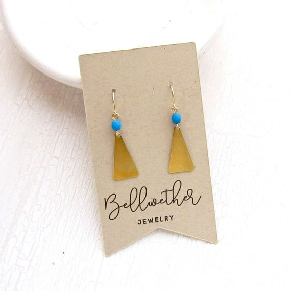 Flare Earrings > Cobalt