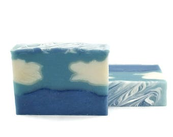 Oceanview Soap | Artisanal Soap, Cold Process Soap, Homemade Soap, Ocean Scented Soap, Blue Soap, Gift for Him, Gift for Her, Beach