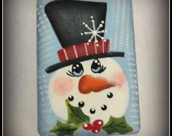Snowman Soap-Christmas-Holly-Stocking Stuffer-Bath Home Decor