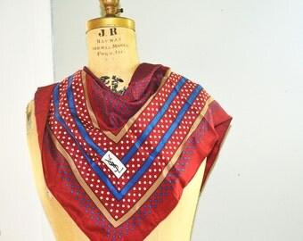 Yves saint laurent  scarf vintage YSL silk scarf polka dots