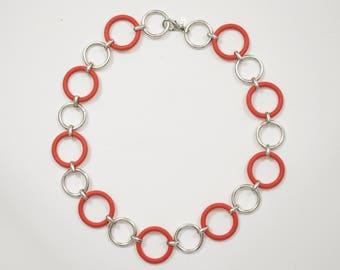 Margherita Buonanno Vintage Italian Designer Mod Round Chainlink Belt or Necklace