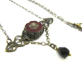 "Bohemian Inspired Czech Glass Collection - ""Catherine"" Necklace"