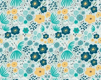 ON SALE Ava Rose By Deena Rutter Floral Blue