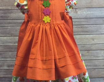 Orange dotted Rosemary Pinafore