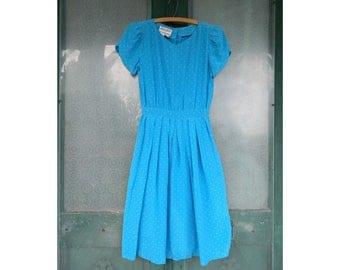 Vintage 1980s Maggy London by Jeannene Booher Sweet Short-Sleeve Silk Dress Size 6