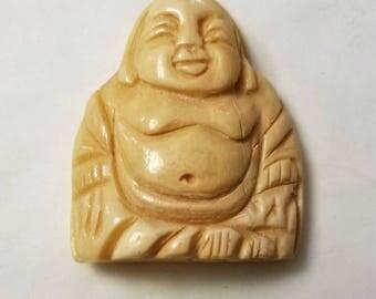 Bone Buddha Sitting - X Large Focal Bead/Pendant