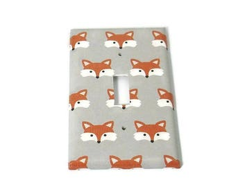Nursery Light Switch Plate in Little Fox (275S)