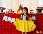 SNOW WHITE dress, girls princess dress, Snow White costume, toddler dress, Snow White costume dress, princess dress, girls princess dress