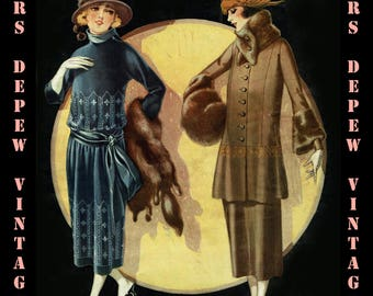 Vintage Sewing Pattern Catalog Booklet McCall Book of Fashions Quarterly Fall Winter 1920 PDF  -INSTANT DOWNLOAD-