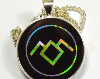 Twin Peaks Black Lodge Symbol Holographic Holo Resin Pendant