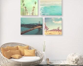 California print set, photographs, travel photography, Los Angeles, San Francisco, beach, Joshua Tree, discount set of 4 Myan Soffia