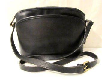 COACH Leather Bag, Black leather bag, Coach shoulder purse, Coach Cross body