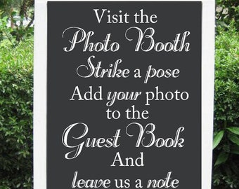 Wedding Photo Booth, Guest book, Custom Chalkboard Decal Wall Decor Words Vinyl Lettering Decal