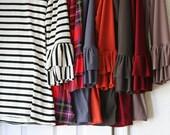 LillyAnnaLadies PDF Digital Pattern Adele Layering Ruffled Shirt top LALA