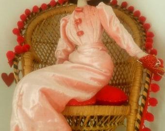 Valentina - Vintage Valentines 1940s/1950s Inspired Cloth  Display Doll