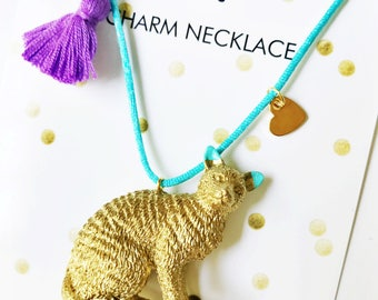 Girls Cat Necklace. Girls Jewelry. Cat Necklace. Girl Necklace. Kids Jewelry. Kids Necklace. Kitty Necklace. Kids necklace. Cat Jewelry.