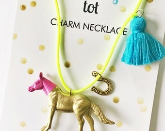Horse Lover Gift. Horse Necklace. Girls Necklace. Kids Necklace. Kids Jewelry. Horse Jewelry. Girls Jewelry. Childrens Jewelry. Girl Gift