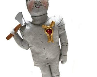 TIN MAN collectible Gladys Boalt Christmas ornament signed Wizard of OZ series figure Holiday decoration TinMan collectible