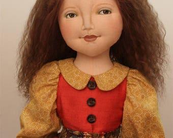 Under the Harvest Moon Cloth Doll by Deanna Hogan