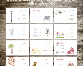 2018 Calendar, 2018 Desktop Calendar, Desktop Calendar, Office Gift, Christmas Gift, Holiday Gift, Stocking Stuffer, Planner, Teacher Gift
