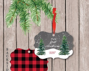 Our First Christmas Ornament, First Christmas Ornament Married, First Married Christmas Ornament, Wedding Gift, First Christmas Ornament