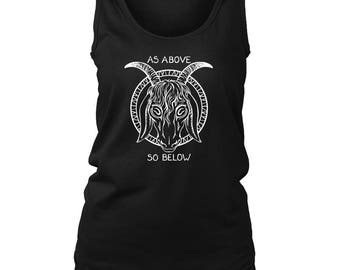As Above So Below Ladies Tank - Size Small to 4XL (free shipping in the U.S)